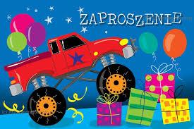 Zaproszenie na urodziny auto