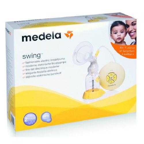 Elektryczny laktator 2-fazowy swing Medela + smoczek Calma