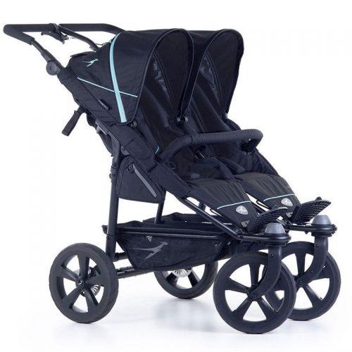 Wózek spacerowy dla dwójki dzieci Twin Trail 2 TFK kolor czarny