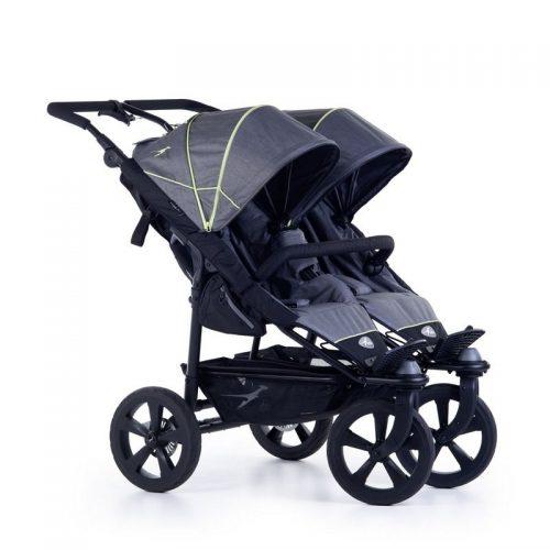Wózek spacerowy dla dwójki dzieci Twin Trail 2 TFK kolor szary