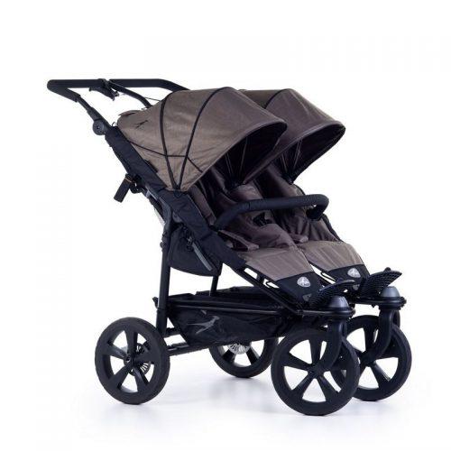 Wózek spacerowy dla dwójki dzieci Twin Trail 2 TFK kolor brązowy