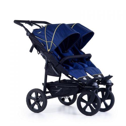 Wózek spacerowy dla dwójki dzieci Twin Trail 2 TFK kolor niebieski