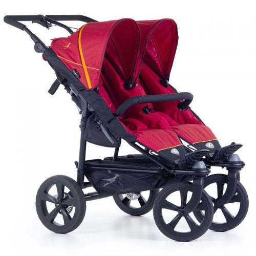 Wózek spacerowy dla dwójki dzieci Twin Trail 2 TFK kolor czerwony