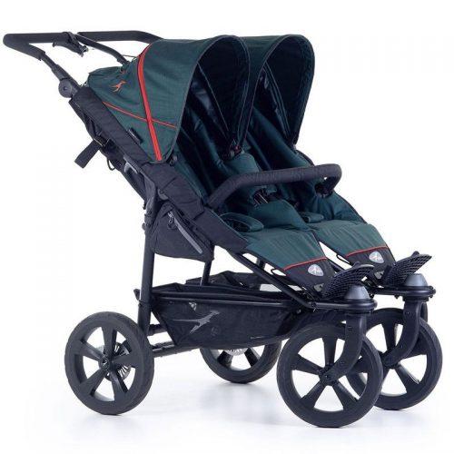 Wózek spacerowy dla dwójki dzieci Twin Trail 2 TFK kolor zielony