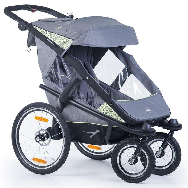 Wózek do biegania z funkcją przyczepki rowerowej Joggster Vello firmy TFK kolor szary