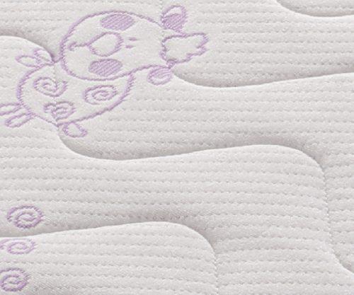 Materac do lóżeczka dziecięcego Pianka Labirynt 120x60x8 Tecomat pokrowiec 2421BC