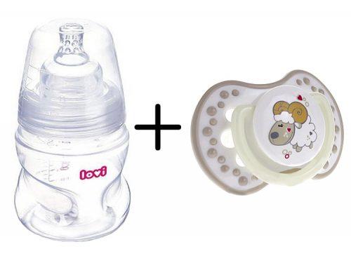 Lovi zestaw chroniący odruch ssania - butelka 150 ml + smoczek uspokajający