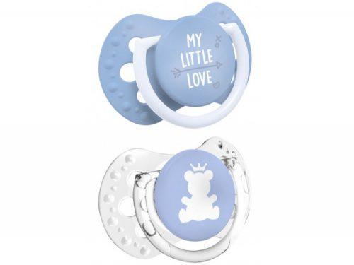 Dynamiczny smoczek uspokajający My Little Love silikonowy 2 szt. 0-2 m Lovi niebieski Boy