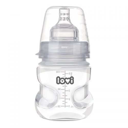 Butelka do karmienia Lovi aktywne ssanie z systemem Super Vent 150 ml 0m+
