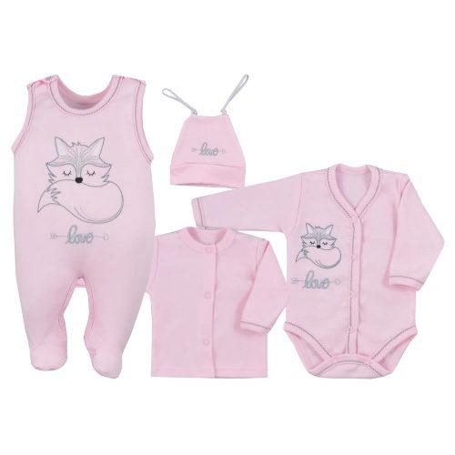 Wyprawka niemowlęca 4 el. Fox Love Koala Baby 56 Różowy