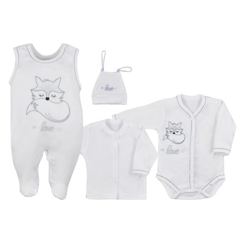 Wyprawka niemowlęca 4 el. Fox Love Koala Baby 68 Biały