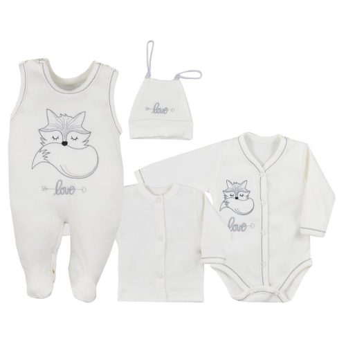 Wyprawka niemowlęca 4 el. Fox Love Koala Baby 68 Ecru