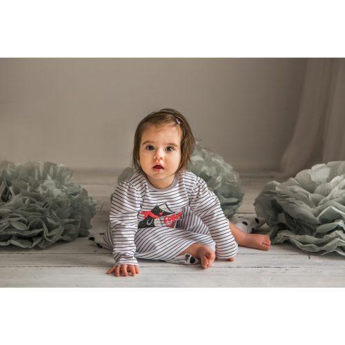 Bluzka + spodenki Borsuk Koala Baby 80 paski