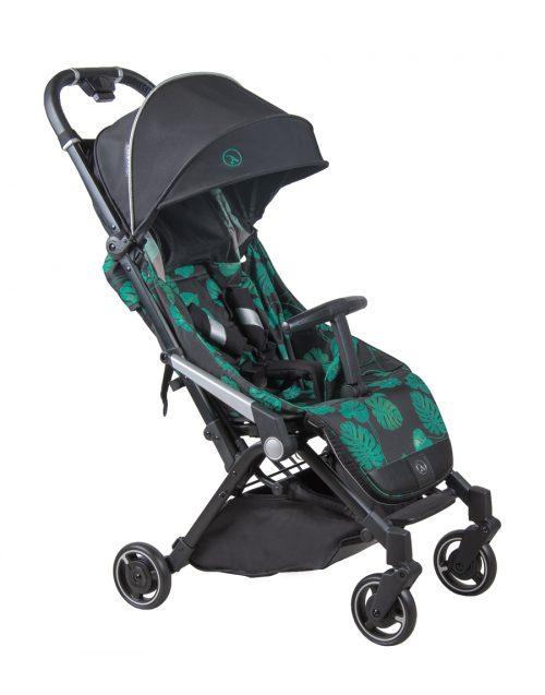 Wózek spacerwoy Coletto Lanza, lekka miejska spacerówka kolor Black Jungle