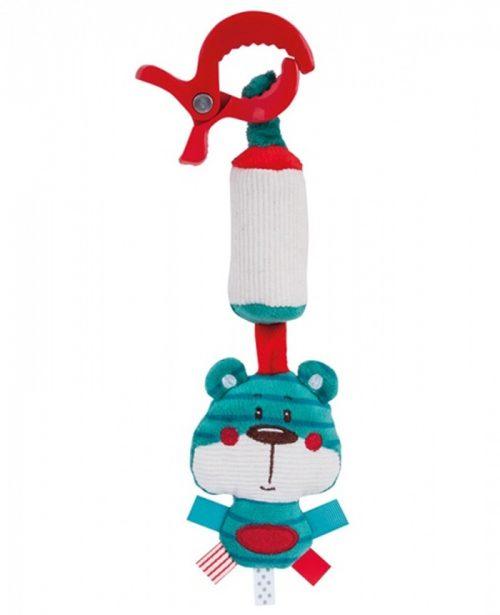Pluszowa zabawka zawieszka z dzwoneczkiem Forest Friends Niebieski