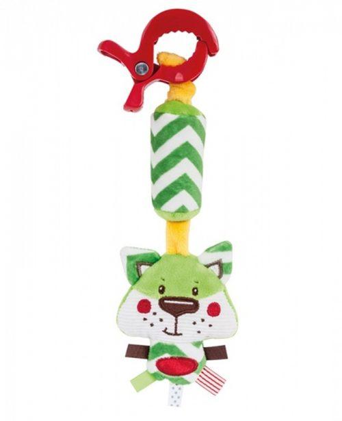 Pluszowa zabawka zawieszka z dzwoneczkiem Forest Friends Zielony