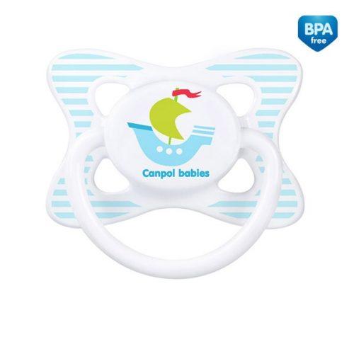 Symetryczny smoczek silikonowy wakacje Canpol Babies 18+ Statek