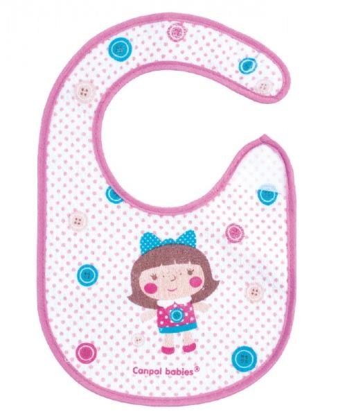 Śliniaczek bawełniany Toys Canpol Babies kolor Różowy