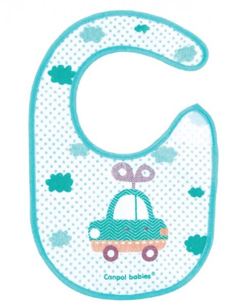 Śliniaczek bawełniany Toys Canpol Babies kolor Turkusowy