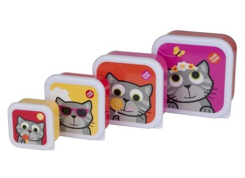 Zestaw pojemników na żywność kotek Tum Tum 4 szt