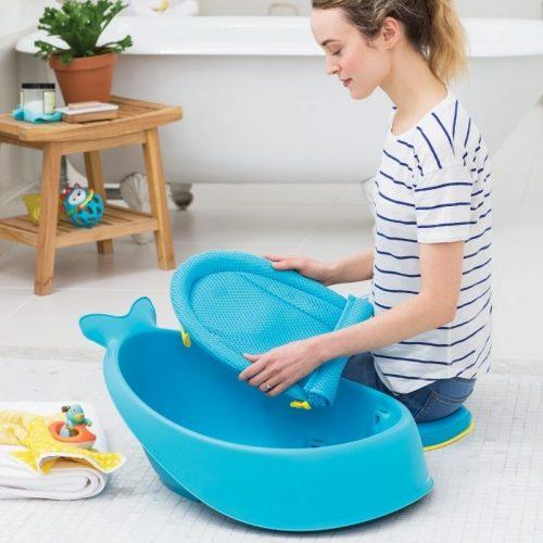 Wanienka do kąpieli z leżaczkiem  Wieloryb MOBY Blue Skip Hop