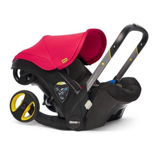 Doona Plus fotelik samochodowy z ramą wózka spacerowego Doona Plus kolor Flame Red