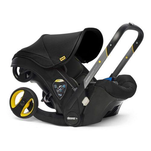 Doona Plus Mobilny fotelik samochodowy z ramą wózka spacerowego Doona Plus kolor Nitro Black