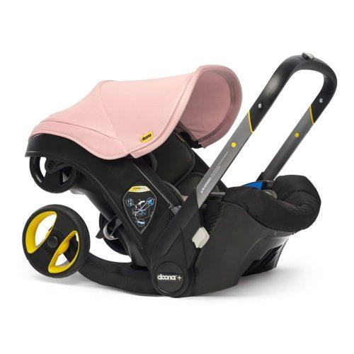 Doona Plus Mobilny fotelik samochodowy z ramą wózka spacerowego Doona Plus kolor Blush Pink