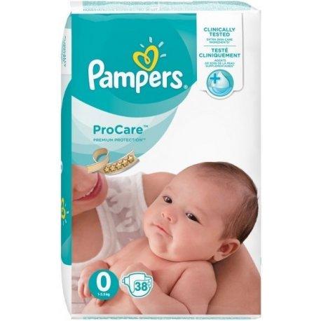 Pieluszki jednorazowe Pampers rozmiar 0 1-2,5 kg 38 szt