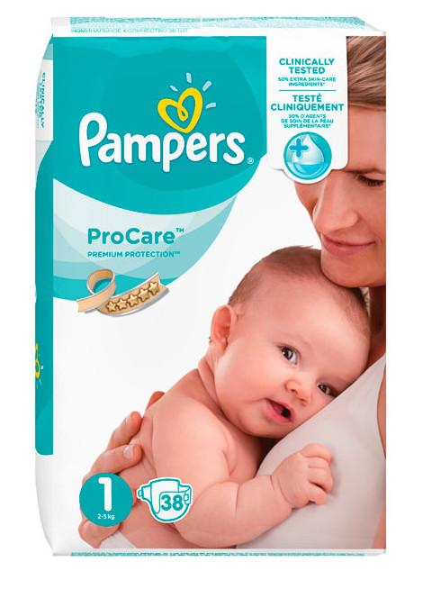 Pieluszki pampers premium Care 1 38 szt 2-5 kg