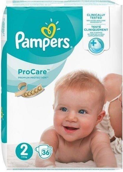 Pieluszki pampers premium care 2 36 szt 3-6 kg