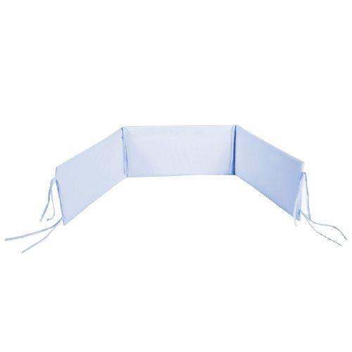 Ocharniacz do łóżeczka niemowlęcego 180x30 cm Albero Mio niebieski