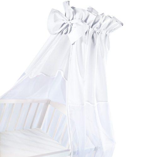 Uniwersalny baldachim do lóżeczka Biały + kokarda  Albero Mio