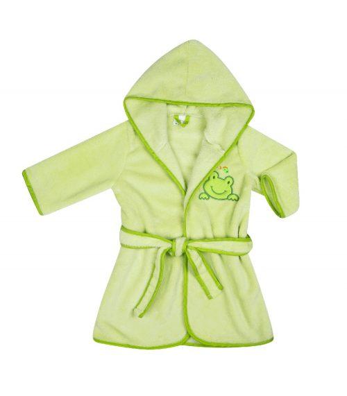 Szlafrok kąpielowy dla dziecka Coral Flece 104-116, Duet Baby Zielony