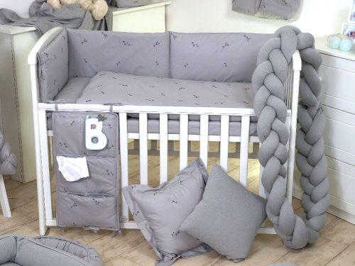 Warkocz do łóżeczka dziecięcego ochrniacz sweterek Pure Grey Amy