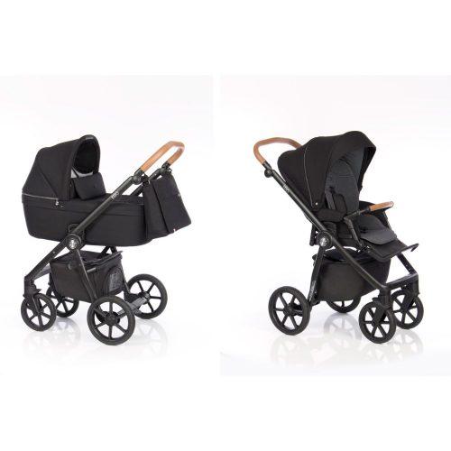 Elagancki i praktyczny wózek głęboko spacerowy 2w1 Roan Coss kolor Black