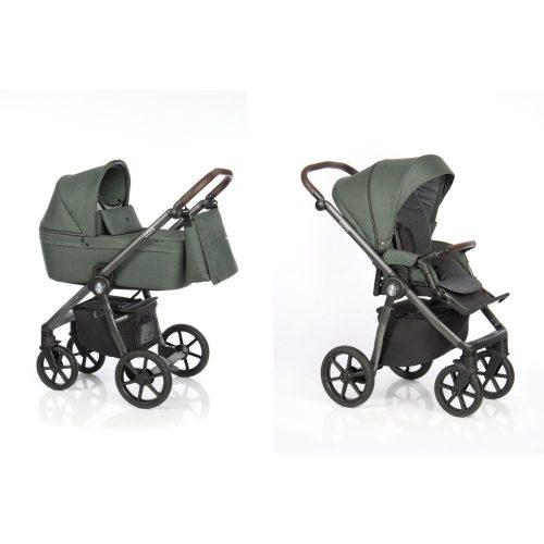Elagancki i praktyczny wózek głęboko spacerowy 2w1 Roan Coss kolor Night Green