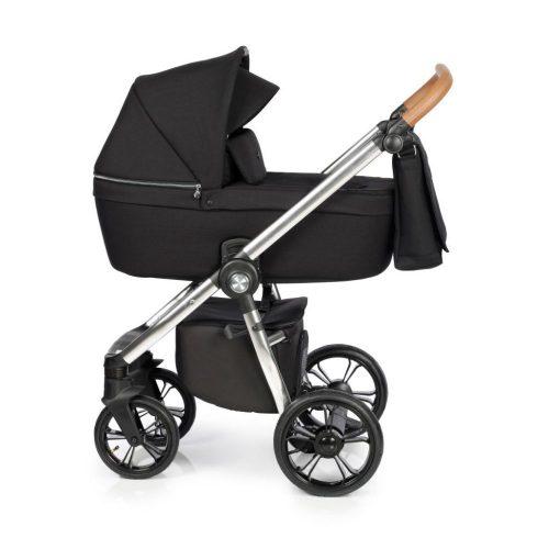 Elagancki i praktyczny wózek głęboko spacerowy 2w1 Roan Coss kolor Onyx