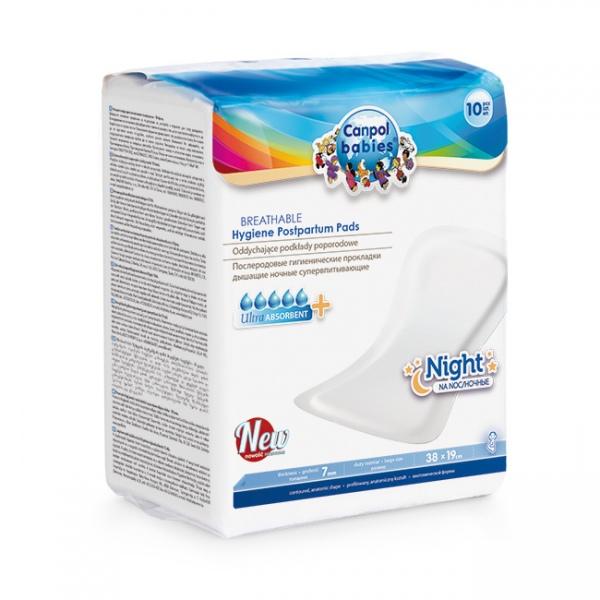 Podkłady poporodowe ultra chłonne na noc Canpol Babies