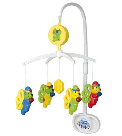 Plastikowa karuzela na łóżeczko Canpol Babies Elfy z pozytywką i zabawkami