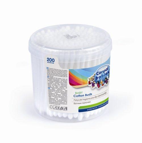 Patyczki higieniczne 100% bawełny 200 szt. Canpol Babies
