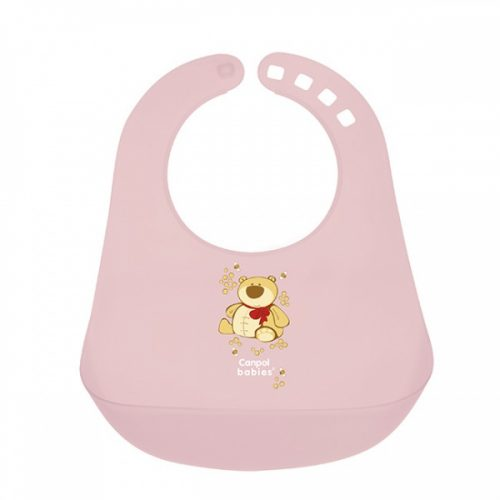 Plastikowy śliniaczek z kieszonką Canpol Babies Różowy