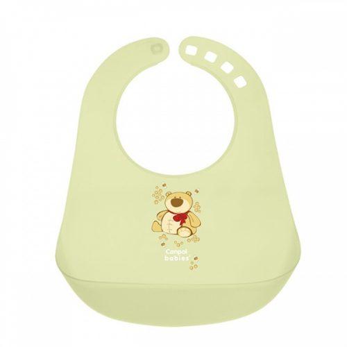 Plastikowy śliniaczek z kieszonką Canpol Babies Zielony