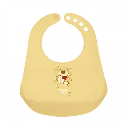 Plastikowy śliniaczek z kieszonką Canpol Babies Żółty
