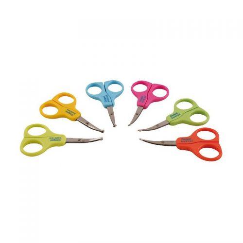 Bezpieczne nożyczki z osłonką do obcinania dziecięcych paznokci Canpol Babies Łososiowy