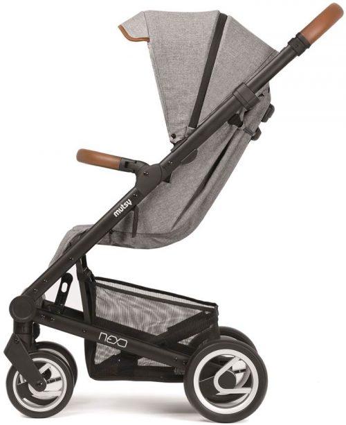 Elegancki wózek spacerowy Mutsy Nexo mały, lekki i komfortowy, kolor Mist Melange