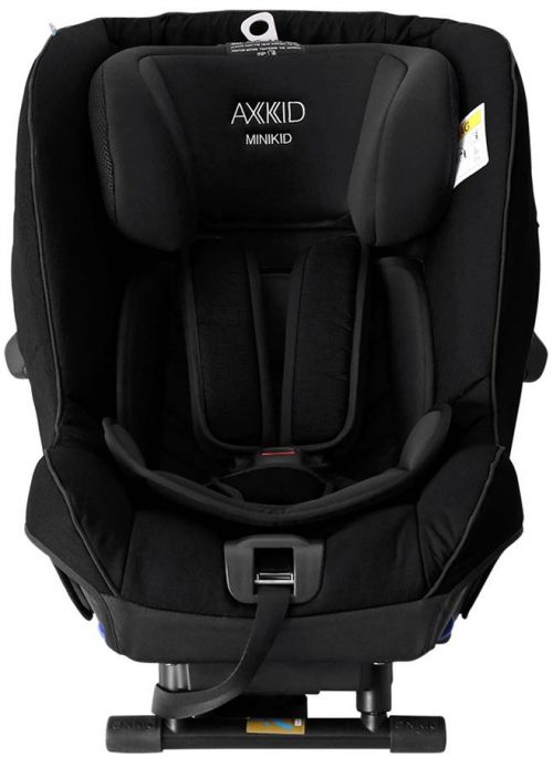 Fotelik samochodowy tyłem do kierunku jazdy 0-25 kg z zaliczonym testem PLUSA Axkid Minikid 2.0 kolor Czarny
