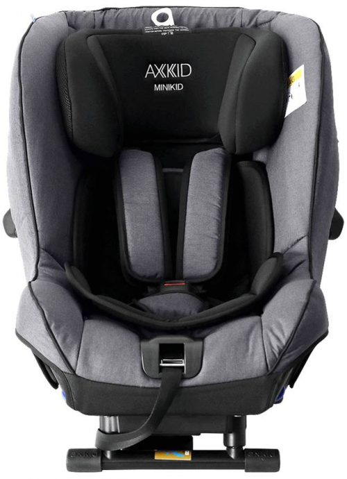 Fotelik samochodowy tyłem do kierunku jazdy 0-25 kg z zaliczonym testem PLUSA Axkid Minikid 2.0 kolor Grey