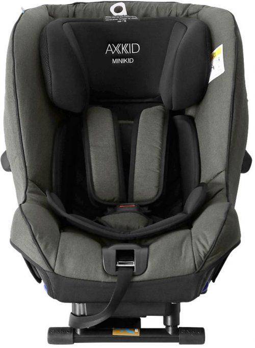 Fotelik samochodowy tyłem do kierunku jazdy 0-25 kg z zaliczonym testem PLUSA Axkid Minikid 2.0 kolor Olive Green