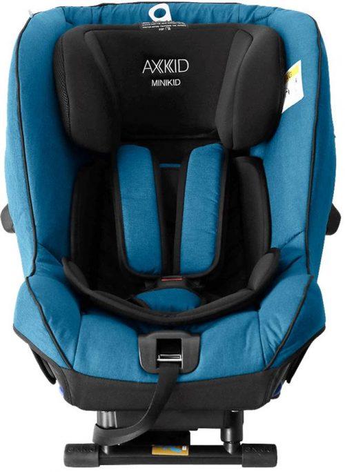 Fotelik samochodowy tyłem do kierunku jazdy 0-25 kg z zaliczonym testem PLUSA Axkid Minikid 2.0 kolor Petrol